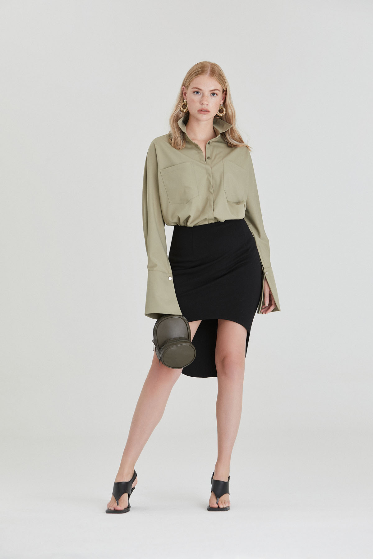 Asymmetrical Jersey Skirt